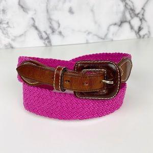 Vintage Talbots Pink Woven Stretchy Belt: Size L
